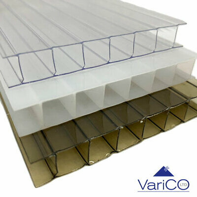 10mm Polycarbonate Roofing Sheets For Lean To Or Car Port Clear / Bronze / Opal • 112.85£