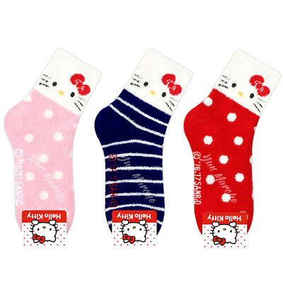 $7.95 • Buy Sanrio Genuine Hello Kitty Winter Bed Socks Fluffy Floor Slipper Pink Socks Gift