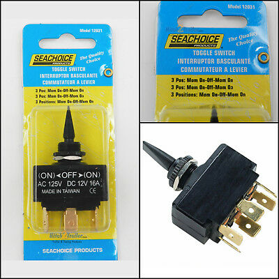 Toggle Switch 3 Position Momentary On - Off - Mom. On Boat Marine Trim Tab 12031 • 8.79$