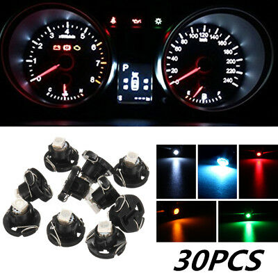 $11.99 • Buy 30x T4 T4.2 Neon Wedge 1-SMD LED Cluster Instrument Dash Climate Bulbs Lights