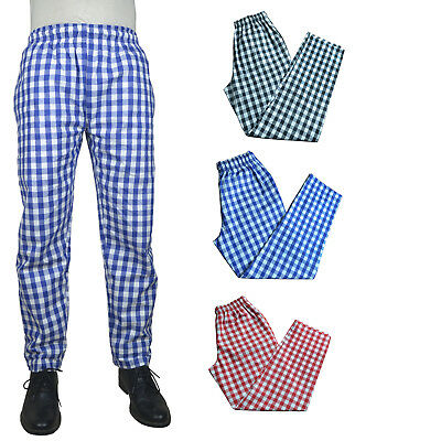 100% Cotton LARGE CHECK TROUSER Unisex Work Cooking Sleeping Catering Trousers • 11.09£