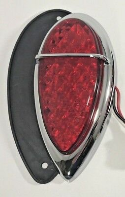 $42.74 • Buy LED Tail Light Assembly Tear Drop Lens & Gasket For 1938-39 Lincoln Zephyr Ford