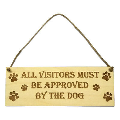 Gift For Dog Owner Hanging Door Sign Wall Plaque Wooden Engraved Novelty Decor • 5.95£