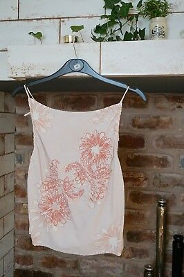 Perfect For Summer, String Shoulder Tie, Peach & Taupe Ladies Top. Size M. • 5£