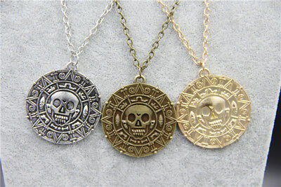 £3.50 • Buy Pirates Pirate Coin Medallion Pendant Necklace 20  Chain. UK SELLER