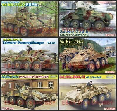 #57 DRAGON 1/35 WWII German Sd.Kfz.234 Armored Vehicles Series • 36.80£