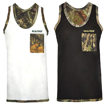 £6.99 • Buy Mens Jungle Camo Muscle Vest RealTree Sleeveless Weightlifting Gym Tank Top M-XL