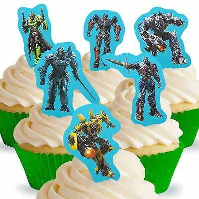 Cakeshop 12 X PRE-CUT Transformers Stand Up Edible Cake Toppers • 2.50£