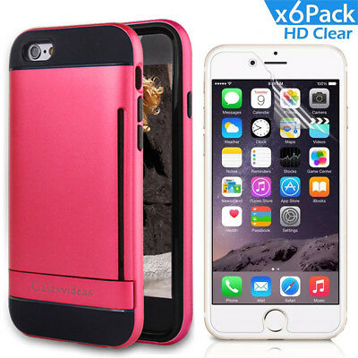 AU14.99 • Buy IPhone 6s Shockproof Bumper Case Anti-scratche Hard Cover Card Slot Holder Stand