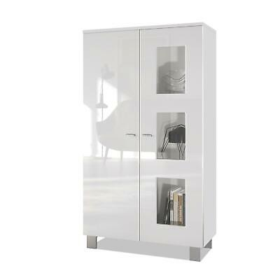 Tall Display Cabinet Glass Unit Denjo White - Display Door In Different Colours • 185.99£