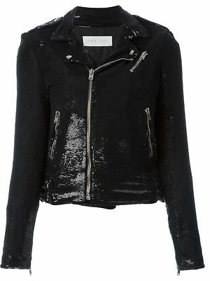 $ CDN527.98 • Buy Iro Heleny Sequin Biker Jacket Size Eur34 Uk6 Us2