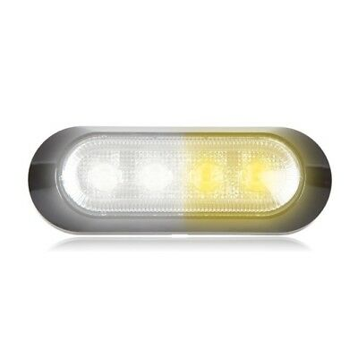 $42.99 • Buy Maxxima M20384WYCL White/Amber 4 LED Warning Strobe Light Surface Mount