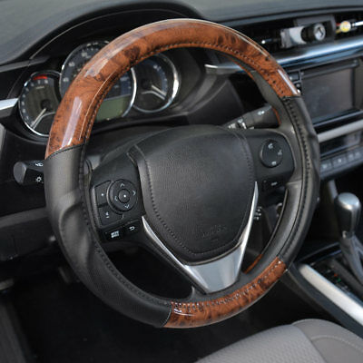 $18.88 • Buy ACDelco Smooth Synthetic Leather Steering Wheel Cover Strong-Grip - Dark Wood