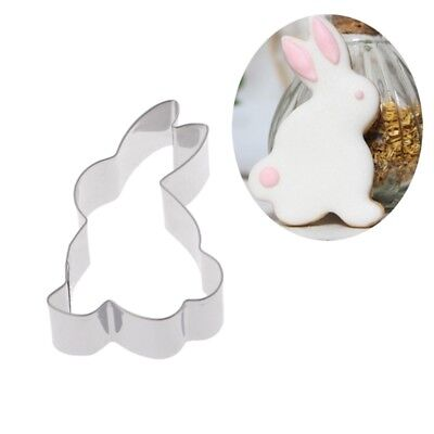 Stainless Steel Rabbit Bunny Cookie Cutter Cake Baking Chocolate Mould   • 2.26£