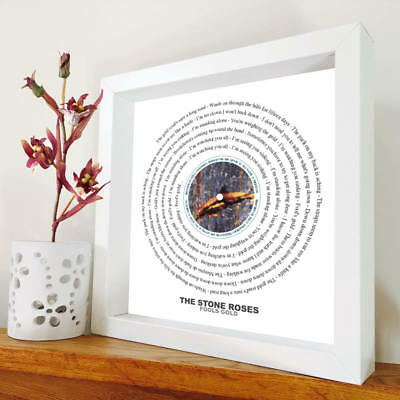 £24.90 • Buy The Stone Roses - Fools Gold - Framed Lyrics Manchester Bands - Ian Brown - Mani