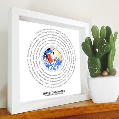 The Stone Roses - I Wanna Be Adored - Framed Lyrics Manchester Bands - Ian Brown • 24.90£