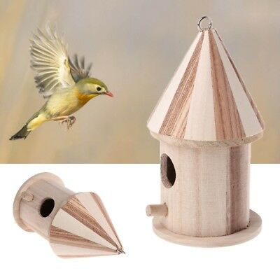 Wooden Small Bird Cage House Hanging Nest Nesting Box For Home Garden Decor • 3.27$