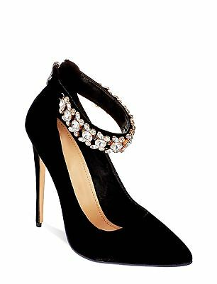 £17 • Buy Womens High Heel Ankle Strap Diamante Sandals Ladies Party Shoes 3-8