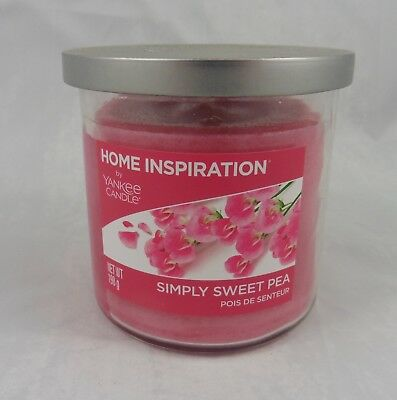Yankee Candle Home Inspiration Small Tumbler Simply Sweet Pea 198g/7oz NEW • 9.99£