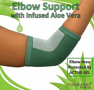Elbow Support Strap Protectors Aloe Vera Gel Tennis Golfers Elbow Sleeve Gym UK • 6.29£