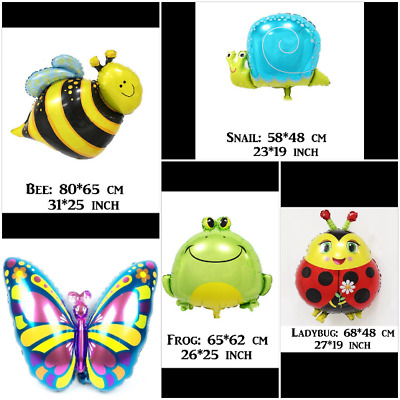 £2.99 • Buy BEE, LADYBUG, BUTTERFLY, SNAIL, FROG Animal Foil  Balloon Birthday Party  Kids
