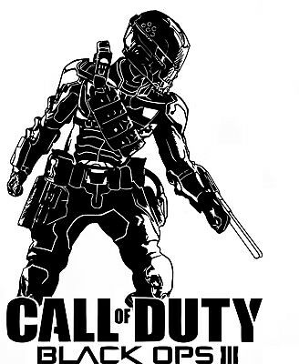 £9.99 • Buy Call Of Duty Black Ops 3 Style Ps4 Xbox Teen Vinyl Wall Art Decal Sticker