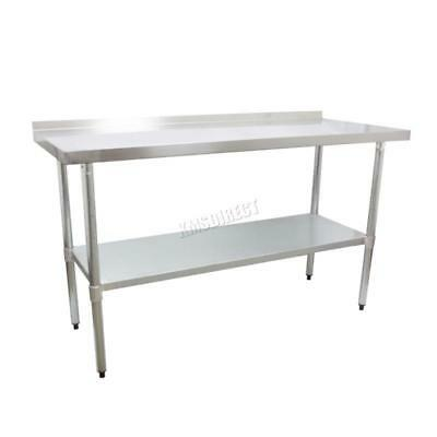 £150.99 • Buy Stainless Steel Commercial Catering Table Work Bench Kitchen Top New 2FTx4FT