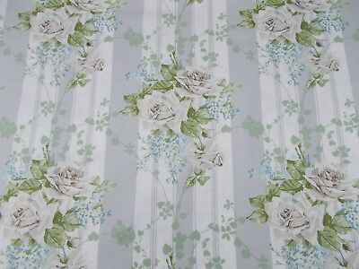 £64.99 • Buy Sanderson Curtain Fabric 'CECILE ROSE' 3 METRES Ivory/Silver - Linen Blend