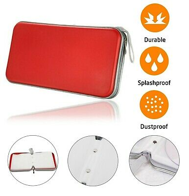 £6.19 • Buy CD DVD Carry Case Disc Storage Holder CD Sleeve Wallet Ideal For In Car RED