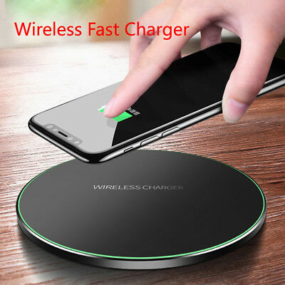 AU12.99 • Buy For Apple IPhone X 10 8 Plus+QI Wireless Fast Charger Charging Pad Mat Metal AU