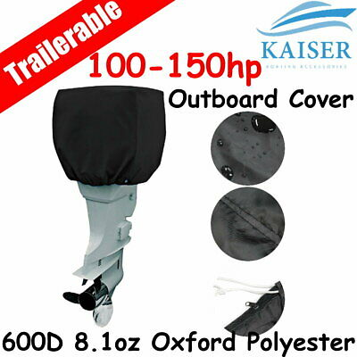 AU33.95 • Buy 100-150hp Half Outboard Boat Motor Engine Cover Dust Rain Protection Black