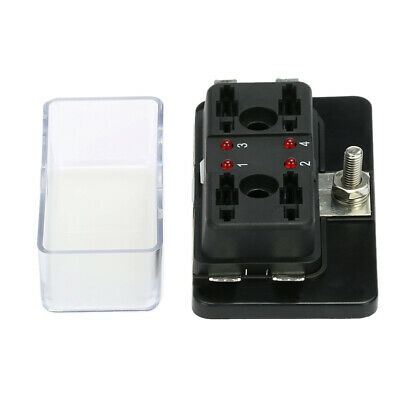 AU15.36 • Buy 4 Way Blade Fuse Box Block Holder LED Light ATC 12V/24V For Car Boat Marine