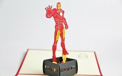 Iron Man 3d Pop Up Greeting Birthday Card. Invitation.uk Seller • 5£