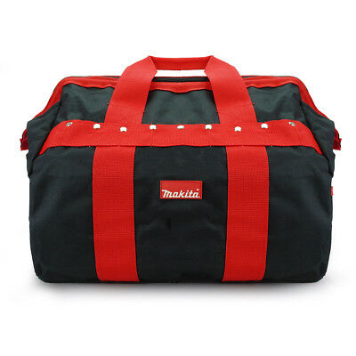 Makita Tradesmans Holdall Tool Bag 17  Red Black With Pockets And Strap • 15.99£