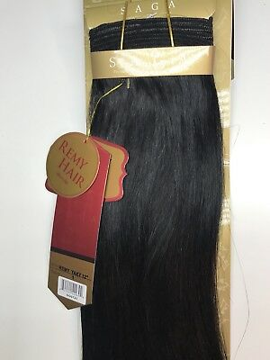 $30 • Buy Saga Gold Yaky 12 _#1_100% Human Remy Hair Weave Straight Extension