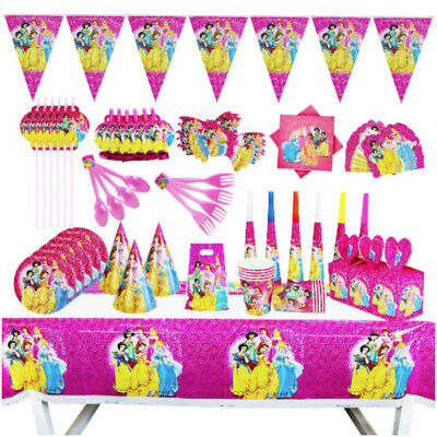 DISNEY PRINCESS Party Supplies Decoration Birthday Plate Napkin Cup Cover   • 2.99£