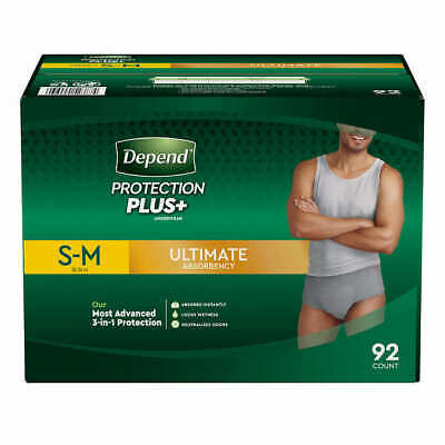 $52.88 • Buy Depend FIT-FLEX Underwear For Men Size: Sm/Med - 92Ct - Free Shipping!
