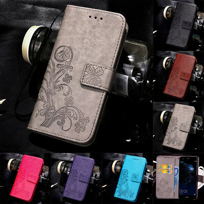 For Huawei P8 P9 P10 Lite 2017 Magnetic PU Leather Wallet Flip Case Cover • 4.98£