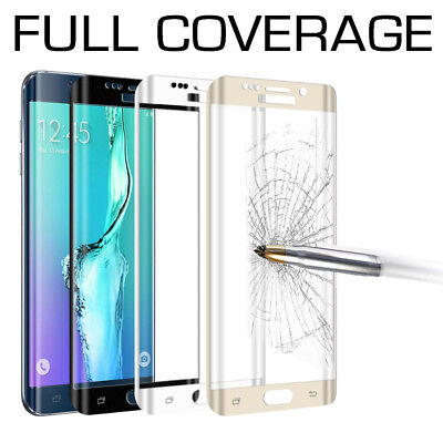 AU6.49 • Buy FULL COVERAGE Tempered Glass Screen Protector For Samsung Galaxy S7 S8 S9 Plus