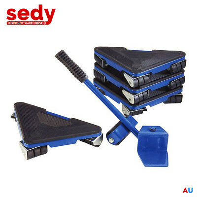 AU52.24 • Buy 5 Pcs Furniture Lifter Moves Wheels Mover Sliders Kit Home Moving Lifting System