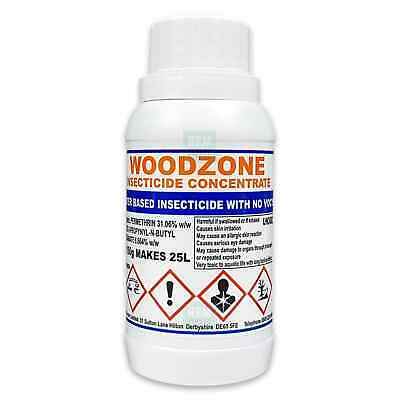 Woodzone X Woodworm Killer Timber Treatment Insecticide Fluid Spray -Makes 25Ltr • 18.99£