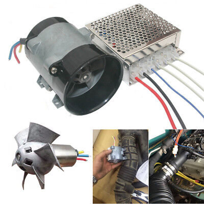 $77.45 • Buy 12V Auto Supercharger Kit Air Intake Pressure Turbo Fan Power Booster W/ ESC Box