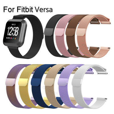 $ CDN10.04 • Buy For Fitbit Versa Metal Milanese Magnetic Loop Strap Stainless Steel Wrist Band