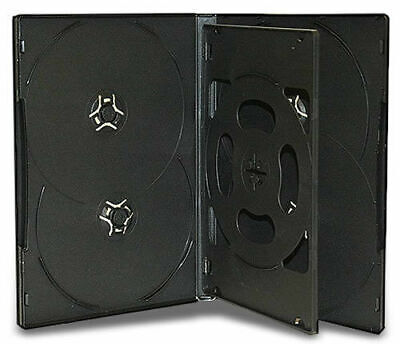 AU97.44 • Buy 100 Hold 6 14mm Standard Case Hex DVD Cover Disc Holds 6 Discs Outer Wrap BLACK