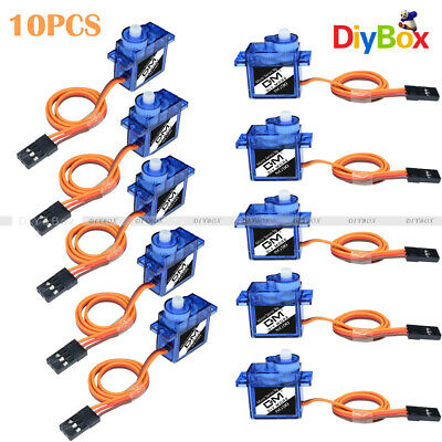 AU13.93 • Buy 10PCS 9G SG90 Mini Micro Servo For RC Robot Helicopter Airplane Car Boat