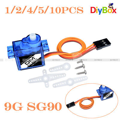 AU7.12 • Buy 1/2/4/5/10PCS 9G SG90 Micro Servo Motor RC Robot Helicopter Airplane Car Boat