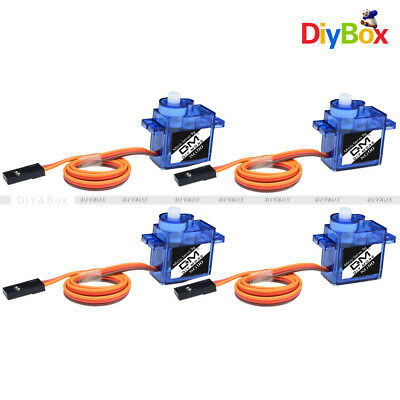 AU5.62 • Buy 4PCS 9G SG90 Micro Servo Motor RC Robot Arm Helicopter Airplane Remote Control