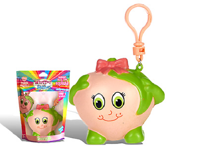 AU20.40 • Buy New Whiffer Sniffers Squishers Georgia Peach Scented Squishy Backpack Clip