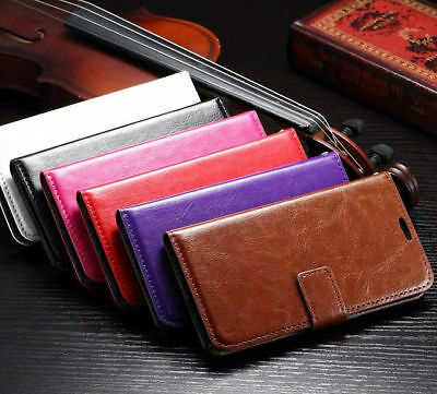 £1.99 • Buy Stand Wallet Book Flip Leather Cover Case For Huawei P8 Lite P10 Y7 2017