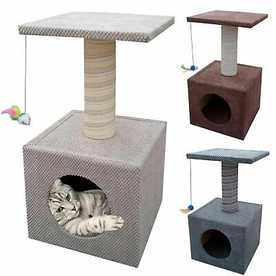 Handmade Cat Scratching House Bed Play Cave Kitten Box Activity Centre Tower • 29.90£